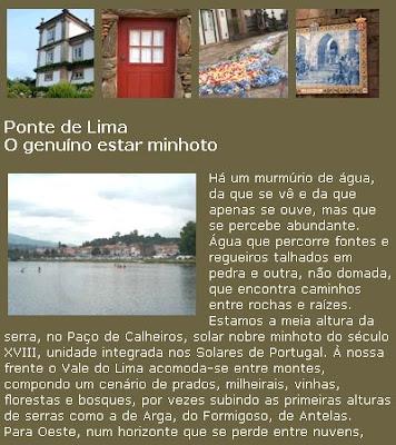 PASSEIO DE JORNALISTAS em Ponte de Lima