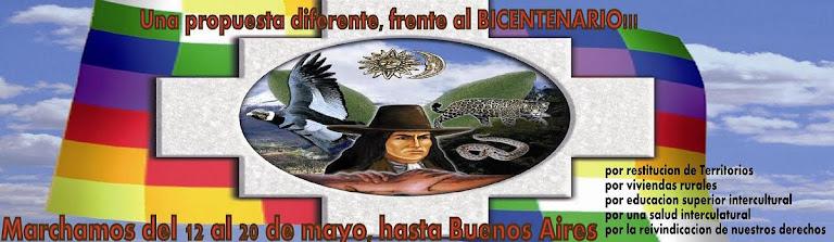 Marcha Nacional Indigena hacia el  QHAPAQ ÑAN!!!