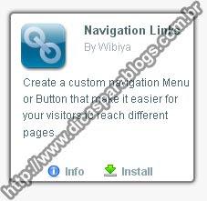 Configurar barra de acessórios para blog