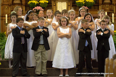 Children Singing in First Communion Service