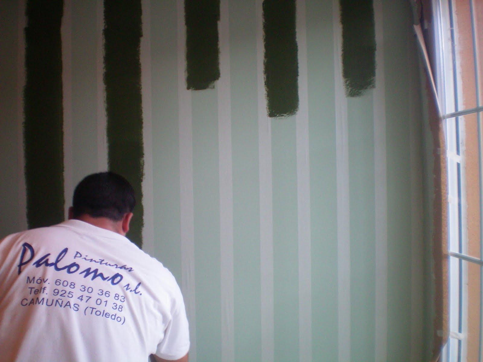 Grupo pinturas palomo paredes a rayas - Paredes pintadas con rayas ...