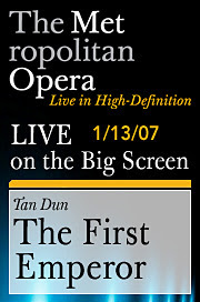 ... Into Heretofore Untraveled Entertainment Waters: The Simulcast Of Tan  Dunu0027s First Emperor Broadcast Live In High Definition At An ABQ Googaplex.