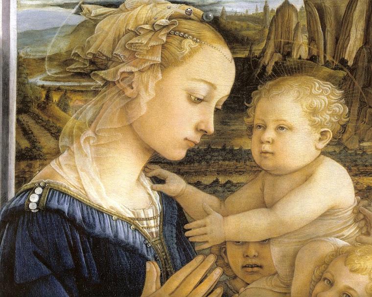 Vergine e il bambino con l'angelo