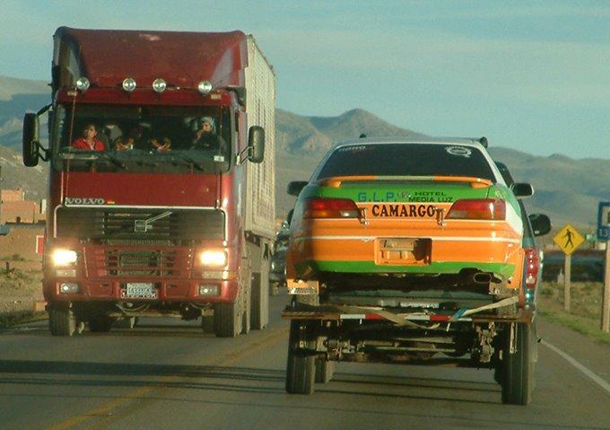 Camino a Oruro, la máquina en buenas manos