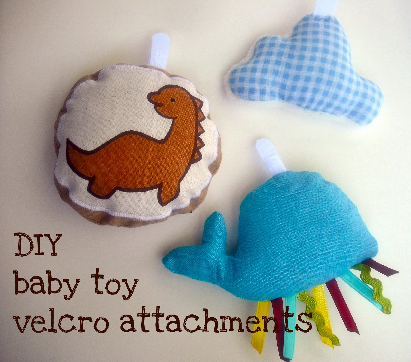 bedtime tales: DIY baby toy velcro attachments