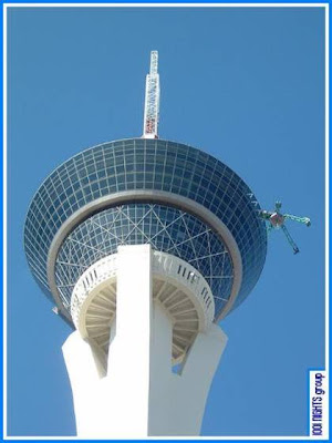 Close view of Stratosphere - Revolving Hotel