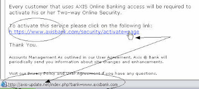 Wrong URL for Axis Bank Security Page