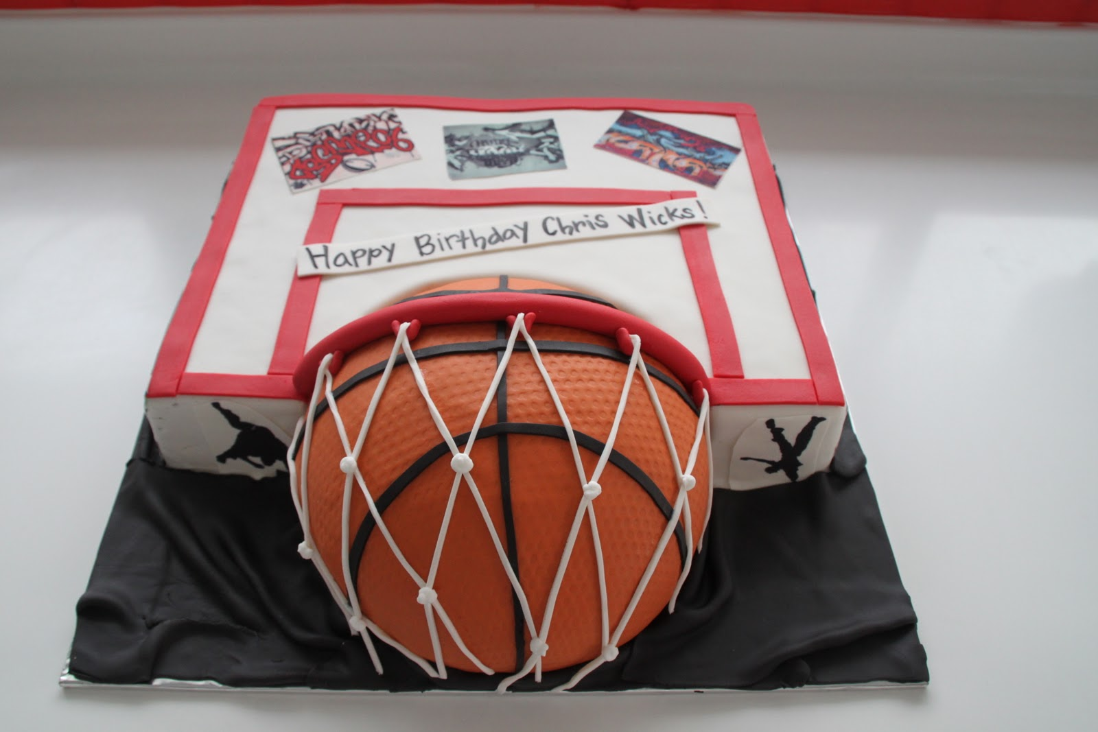 Celebrate with Cake Basketball Graffiti Cake