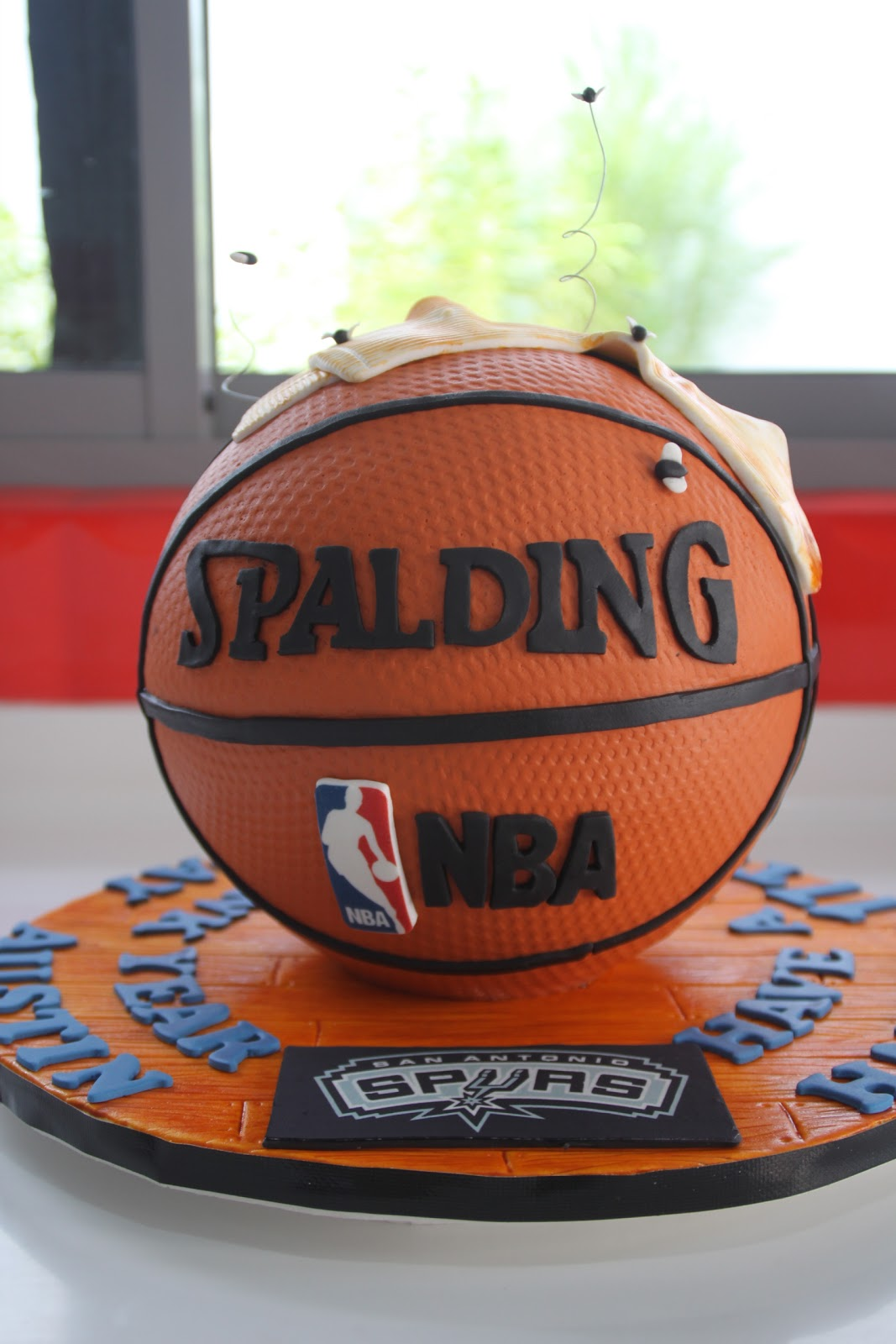 Cake Images Basketball : Celebrate with Cake!: Sculpted Basketball Cake with Socks