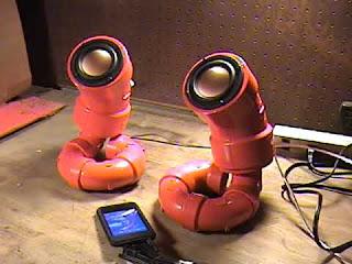 orange pipe speaker