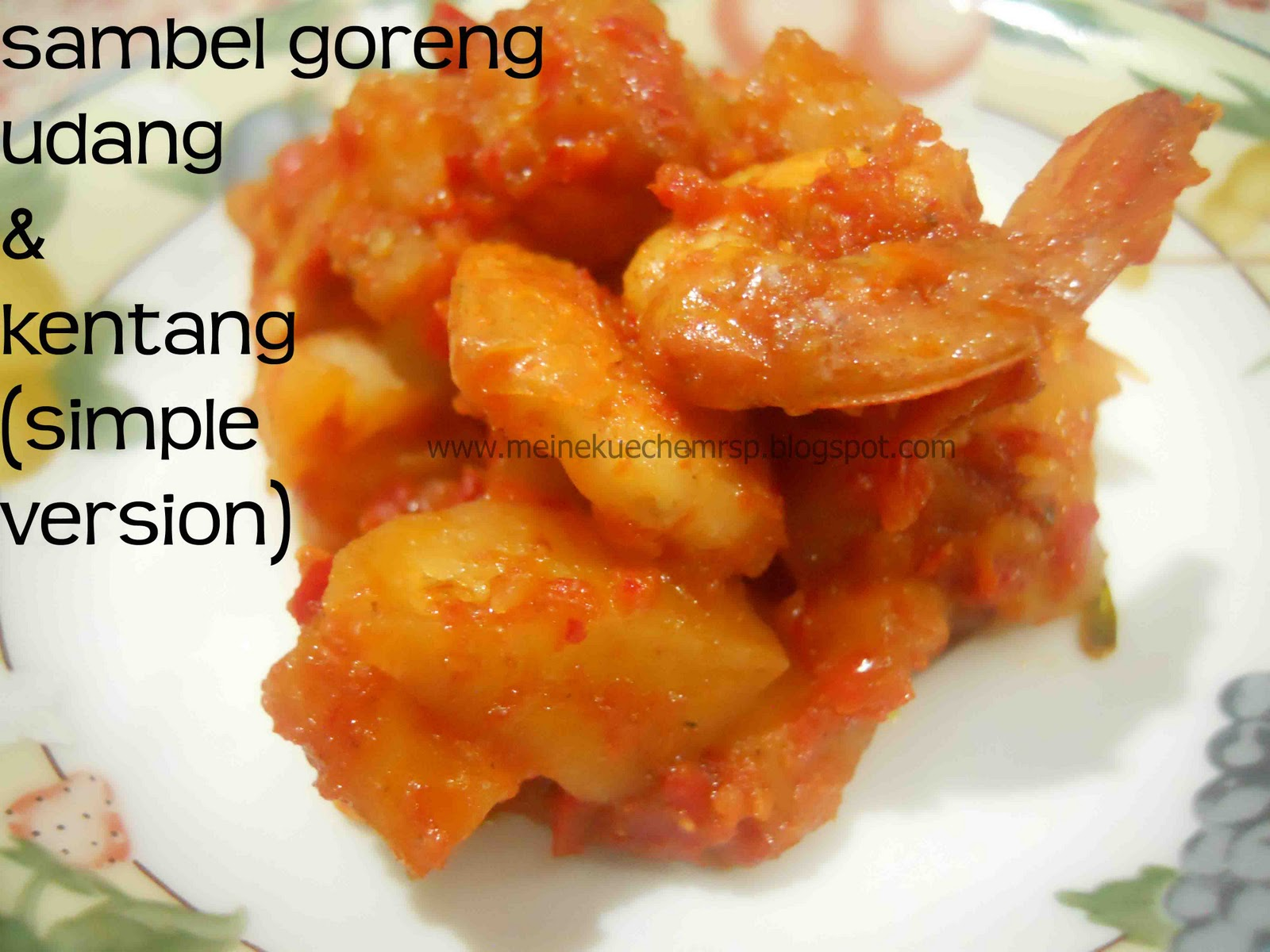 Sambel Goreng Udang & Kentang (Simple Version)