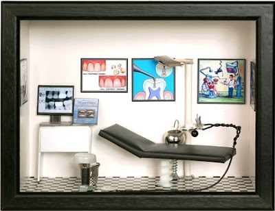 dentist miniature shadowbox