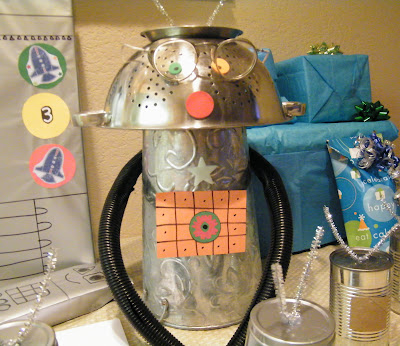 robot birthday party ideas craft