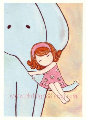 elephant nursery cartoon girl cute