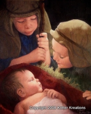 baby jesus children nativiy painting