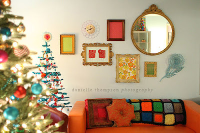 bright christmas frame wall