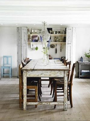 elegant distressed white shabby chic antique barn dining table chandelier