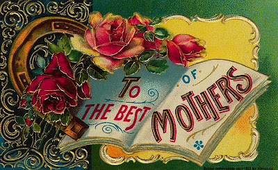 vintage flower victorian mother's day card postcard free printable image