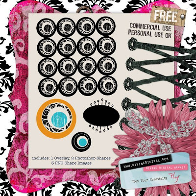 pink black digi digital scrapbook kit free freebie