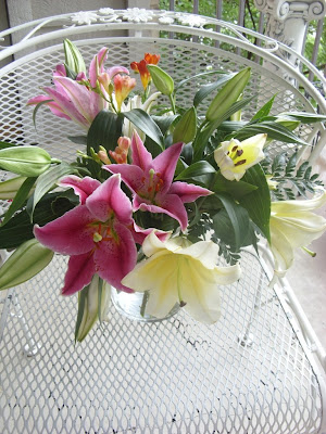 mother's day flower bouquet lily lillies