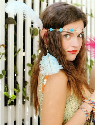 feather hippie boho native headband lanative