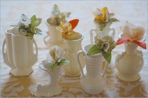 diy flower boutineers wedding handmade