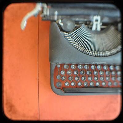 kitty rogers ttv remington no. 2 typewriter fine art photography print orange