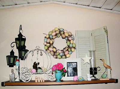 easter spring egg wreath decor bunny mantle decorations