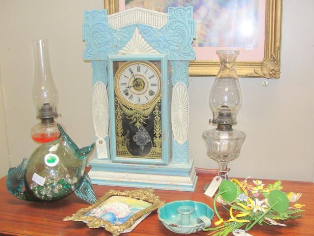 antique, vintage clock, cuckoo clock, turquoise, aqua