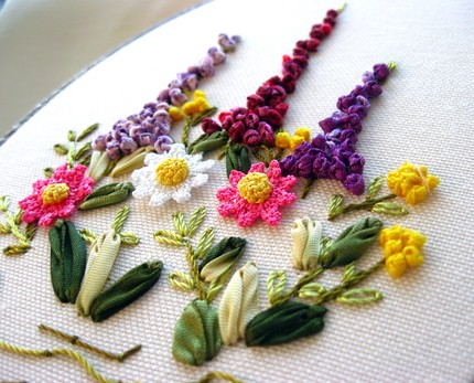 Elizajohn Silk Ribbon Flower Garden Embroidery