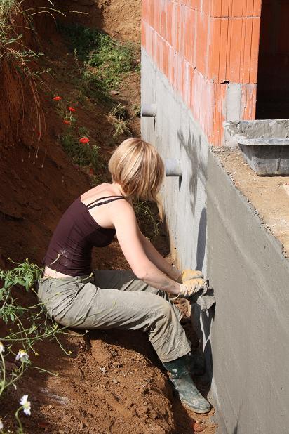 Autoconstruction de notre maison suite tanch it vide sanitaire - Enduit hydrofuge vide sanitaire ...