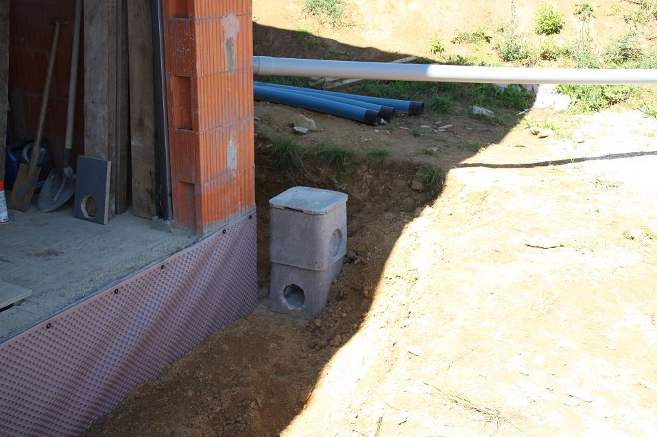 Autoconstruction de notre maison d but du drainage - Drainage d une maison ...