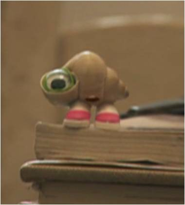 Picture of Marcel the shell with shoes on - #1