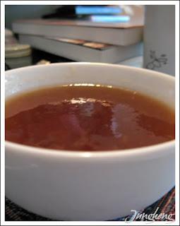 煮熟後的藕粉