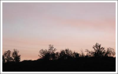 墾丁小灣的晚霞