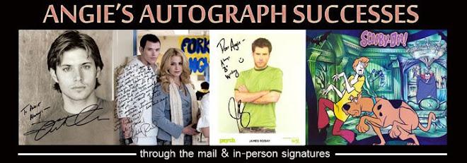 Angie's Autograph Successes