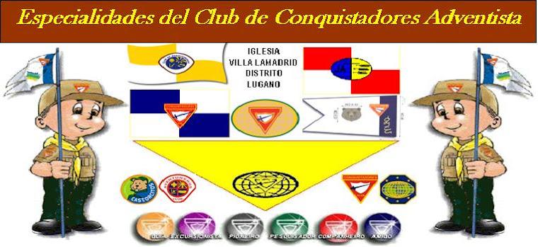 ESPECIALIDADES DEL CLUB DE CONQUISTADORES
