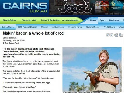 Bacon de crocodilo