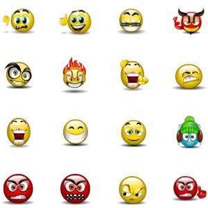 Main 8594 Aqua Smiles Icons by