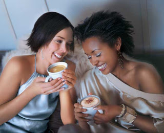 Girls+talking+over+coffee A tribute to the black hair conversation