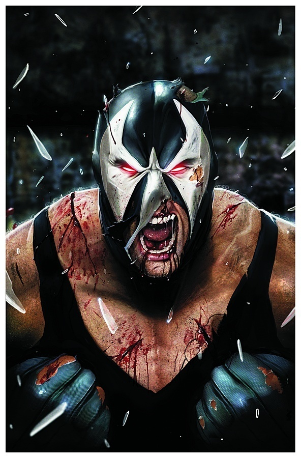 In the comics Bane wears what looks like a luchador mask ... & UPDATE: Tom Hardy Talks A Bit About Bane In The Dark Knight Rises