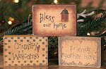 Bless Our Home ~ Wood Blocks ~ $5.45