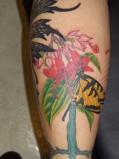 Tattoo Bleeding Heart With Monarch Butterfly
