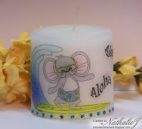Digital Stamping on Candles with Nathalie