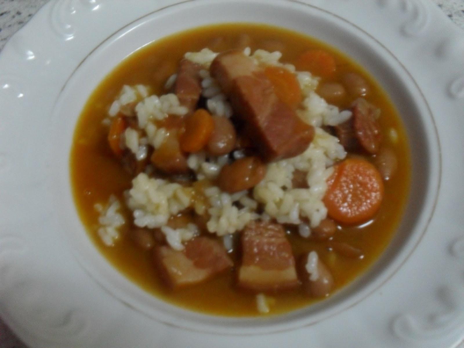 Las recetas de montsine jud as pintas con arroz - Arroz con judias pintas ...
