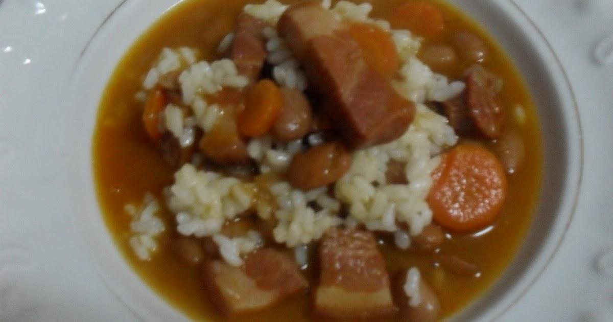 Las recetas de montsine jud as pintas con arroz - Guiso de judias pintas ...