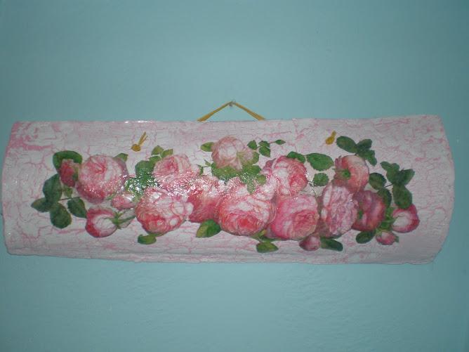 Telha rosas com craquéle