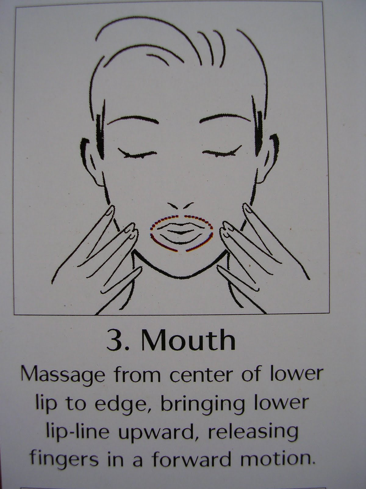facial massage Shiseido