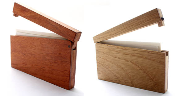 Padouk wooden business card case reheart Images
