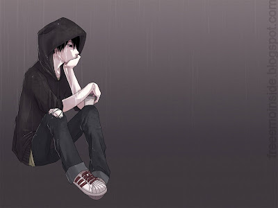 sad anime boy pictures